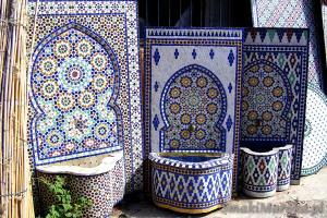 marokańskie krany ogrodowe, Oulja, Rabat