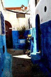 Wąska uliczka, Oudaja, Rabat