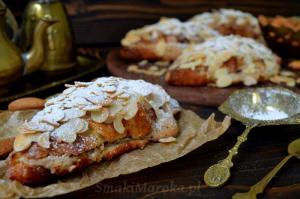 Croissanty z nadzieniem migdałowym