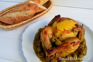 Kurczak z kiszonymi cytrynami i oliwkami (Djaj Mhamar)