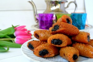 Makrout, marokańskie smażone ciasteczka z daktylami