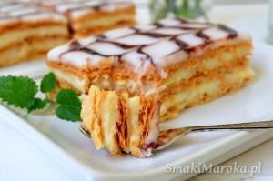 Millefeuille - francuskie ciasto z kremem budyniowym