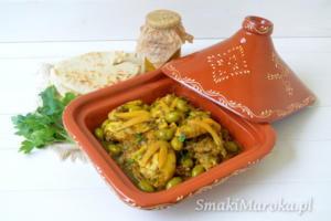 Tagine z kurczakiem, oliwkami i kiszonymi cytrynami