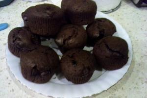Muffiny czekoladowe w wykonaniu Wioletty