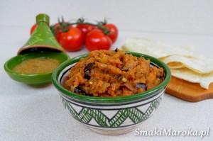 Zaalouk, marokańska pasta z bakłażana i pomidorów