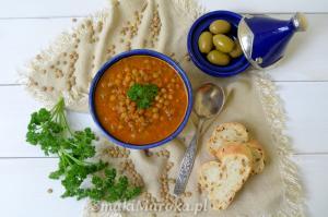 Marokańska zupa z zielonej soczewicy